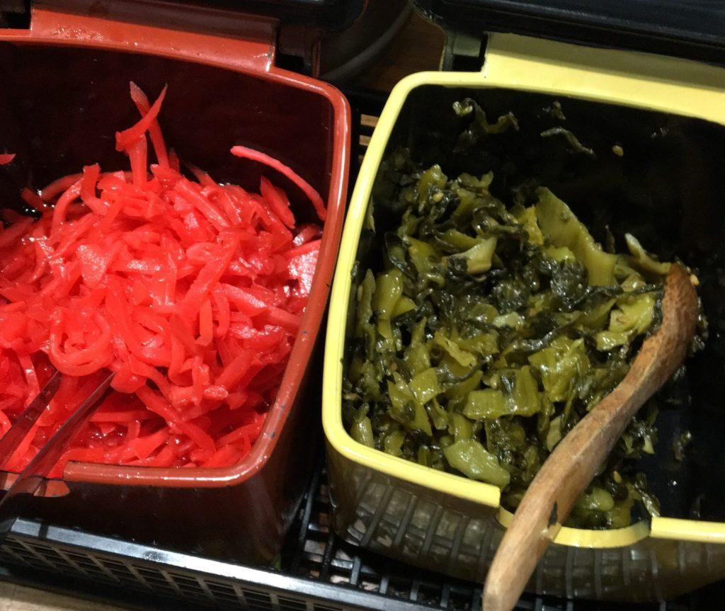 一鶴紅生姜と高菜