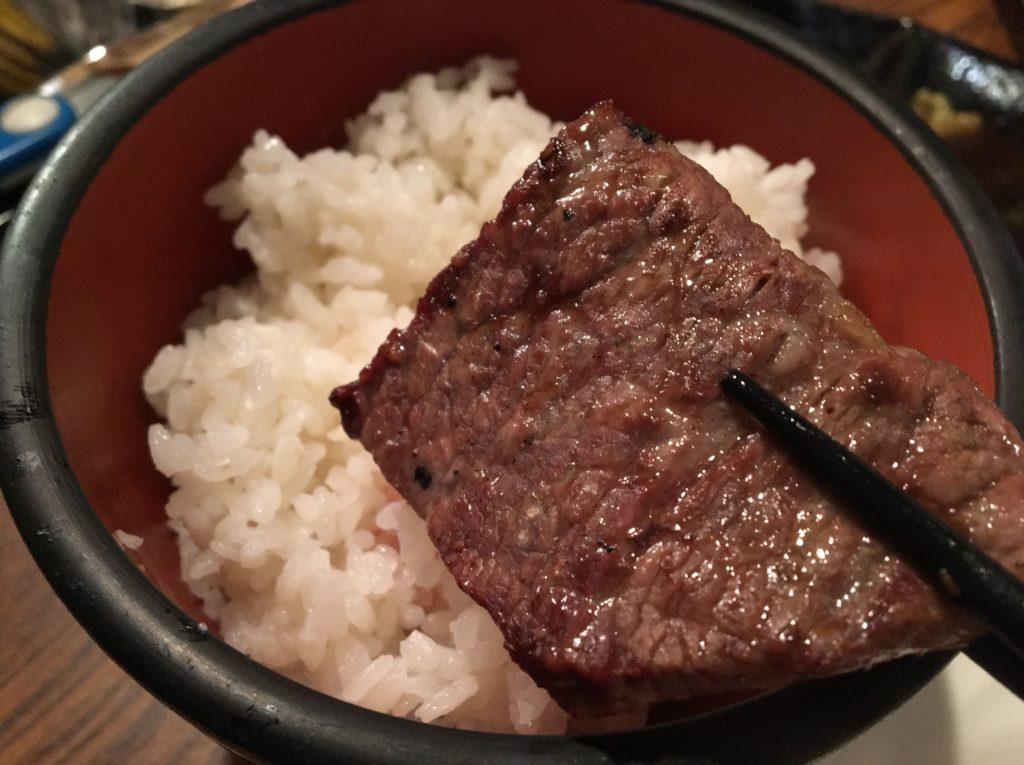 牛炎ロースご飯