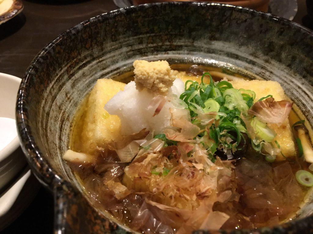 魚侍あおさの揚げ出し豆腐