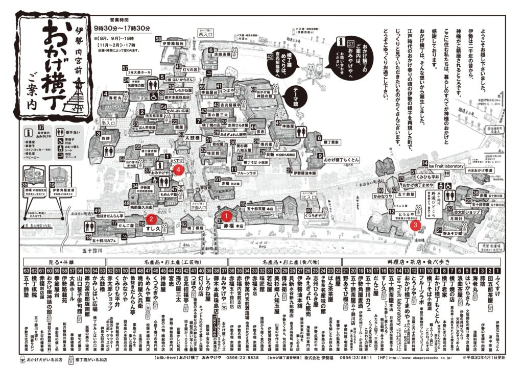 伊勢神宮朔日参り絵地図