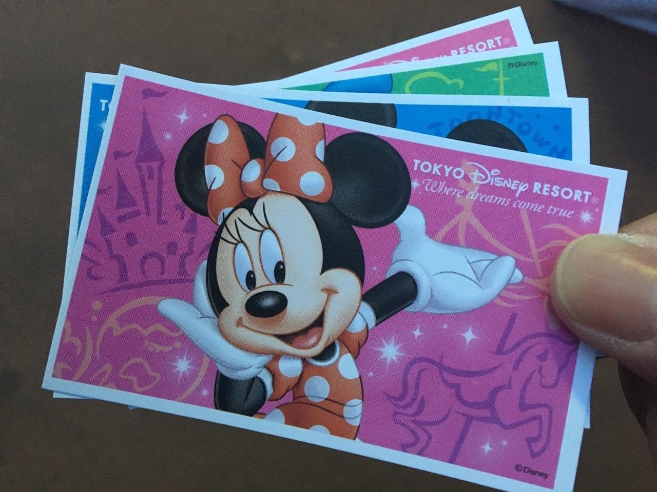ディズニー名刺サイズのチケット