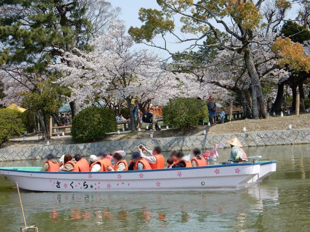 九華公園さくらまつりの桑名水郷舟めぐり